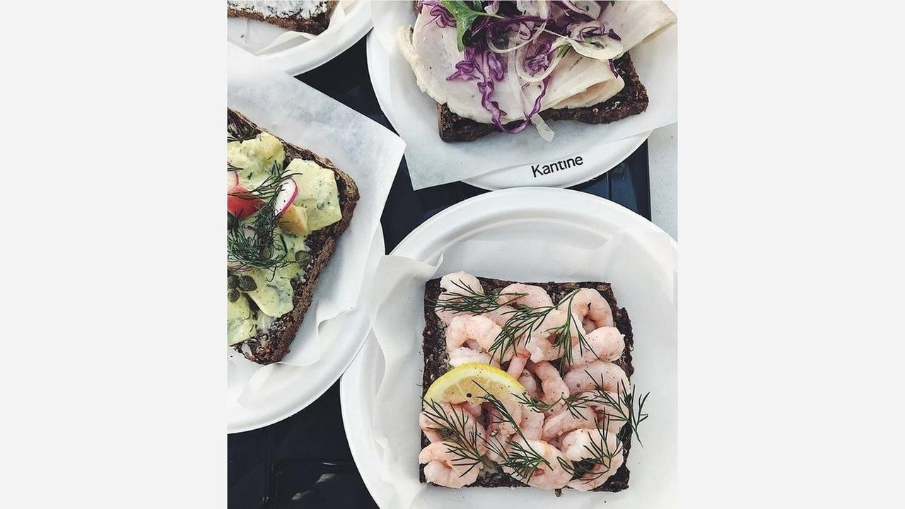 Smørrebrød sandwiches at Kantine.   Photo: Kantine SF/Facebook