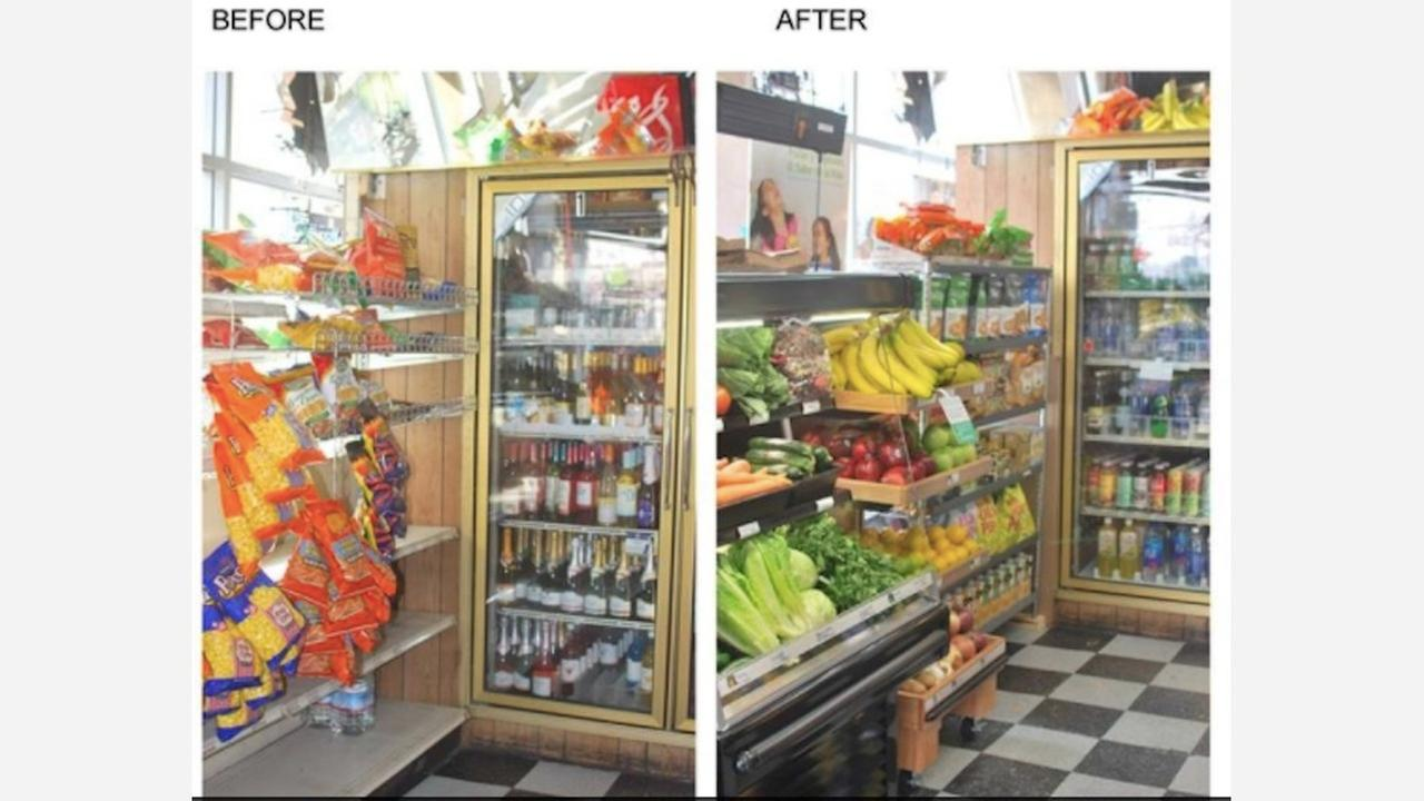 Before and after images of Daldas Market.   Photo: Tenderloin Healthy Corner Store Coalition