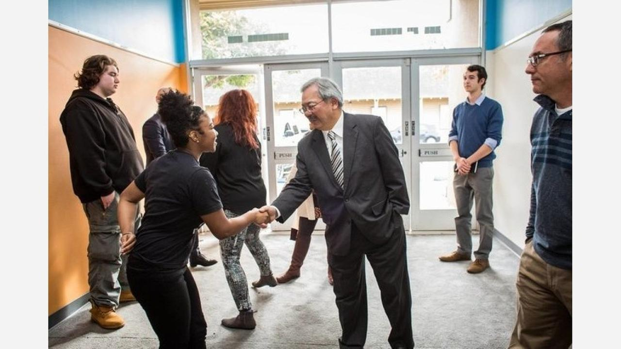 Mayor Lee visited LLA in January 2017. | Photo: Life Learning Academy/Facebook
