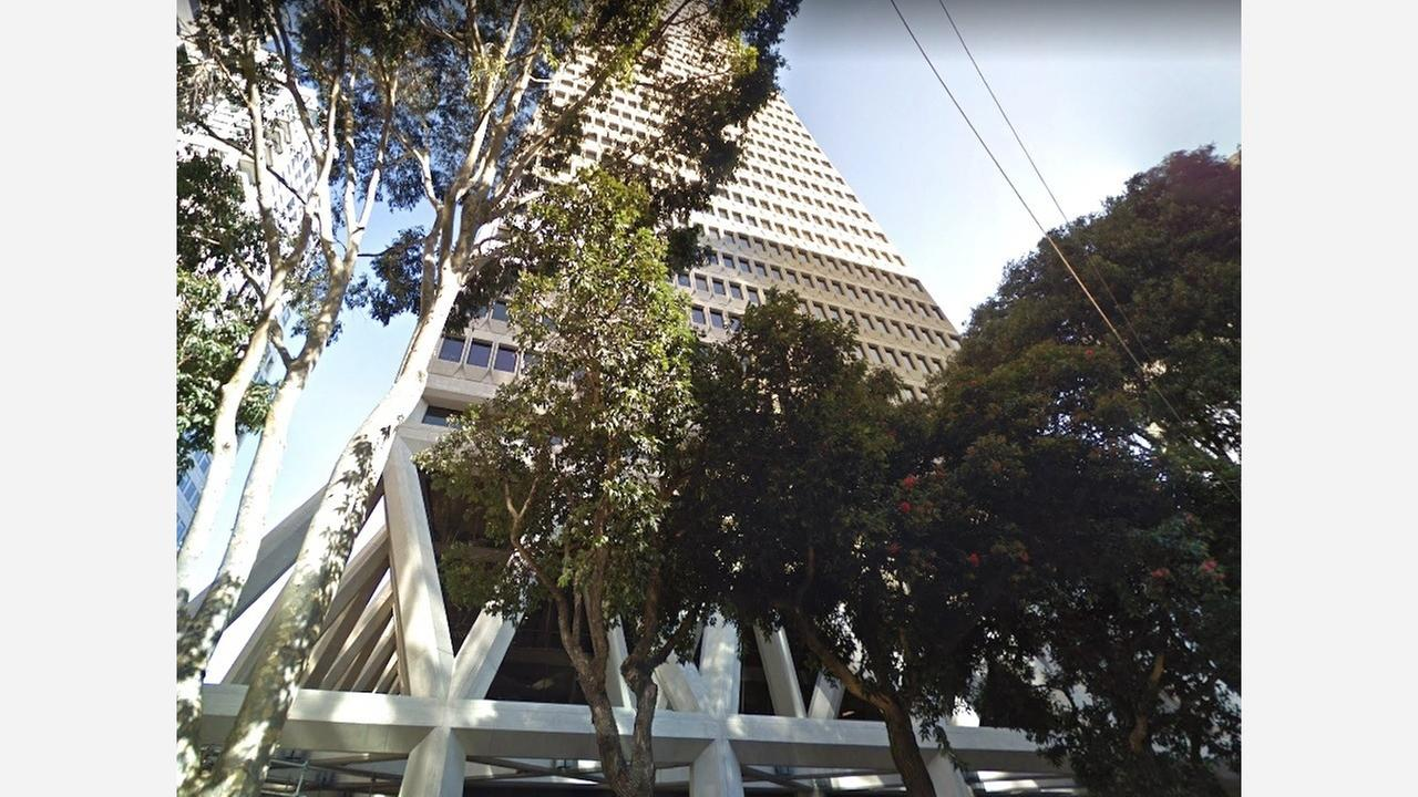Trees planted outside the Transamerica Building. | Photo: Google