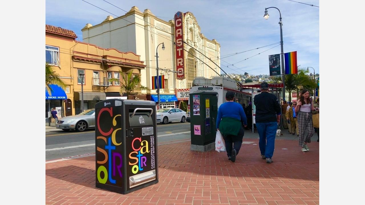 Five new Bigbelly trash cans were installed yesterday.   Photo: Steven Bracco/Hoodline