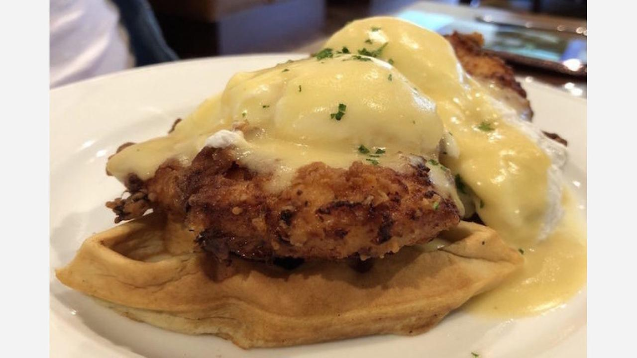 Chicken and waffles Benedict. | Photo: Ron L./Yelp