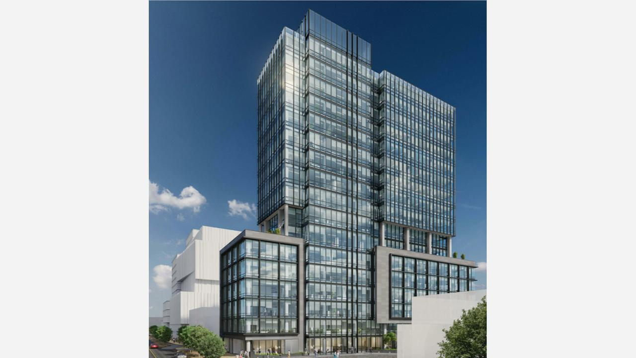 Pinterest hopes to add 11 stories to its Brannan Street headquarters. | Rendering via SF Planning