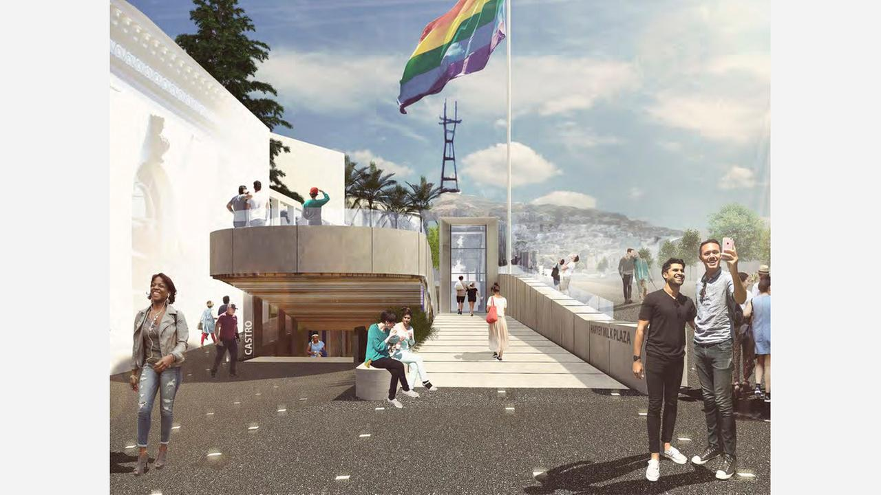 Semi final designs for Harvey Milk Plaza have been revealed. | Renderings: Perkins Eastman