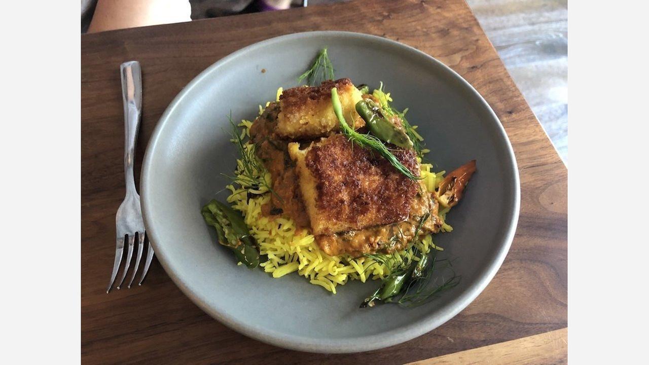 Fish moilee dinner at Besharam. | Photo: Joann C./Yelp