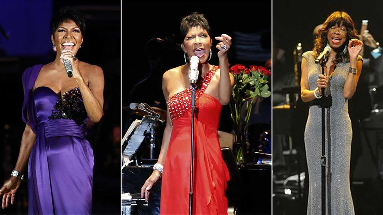 Natalie Cole performs in these photos provided by The Associated Press.