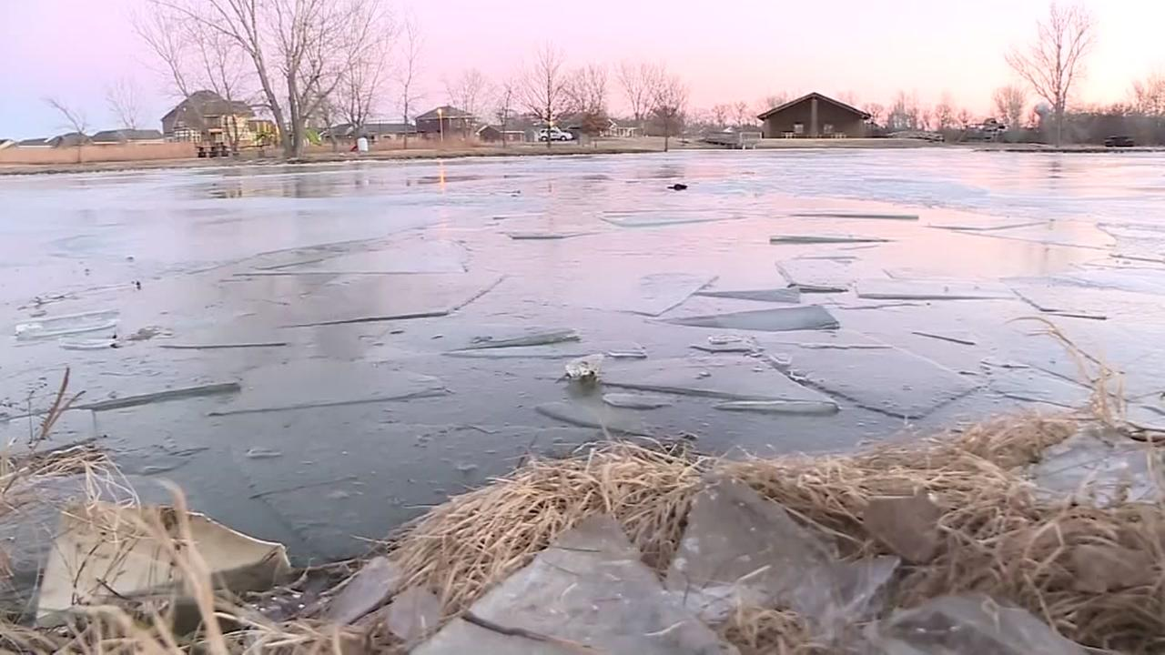 Mom, son die after family falls into frozen pond