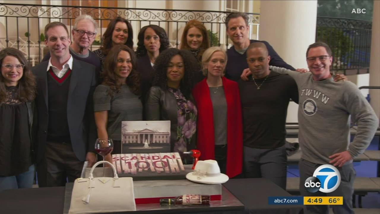 Scandal stars teased what to expect Thursday night during the shows 100th episode celebration.
