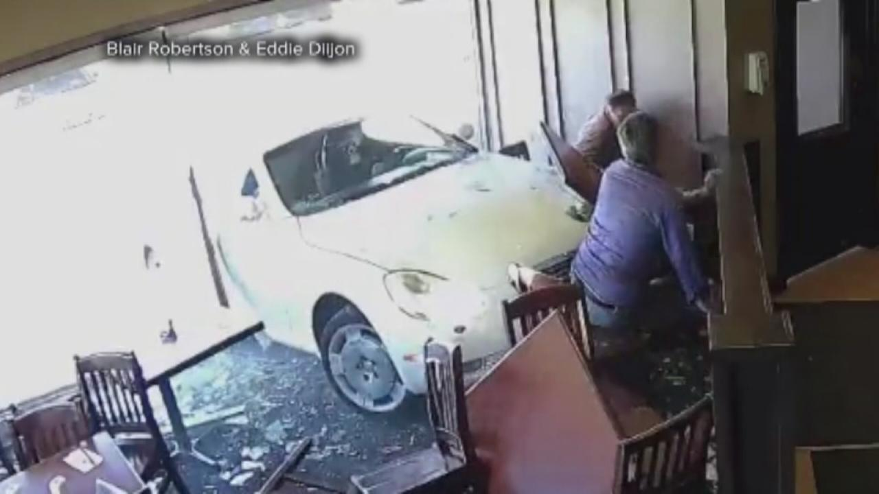 Psychic hit by car inside restaurant says he didnt see it coming