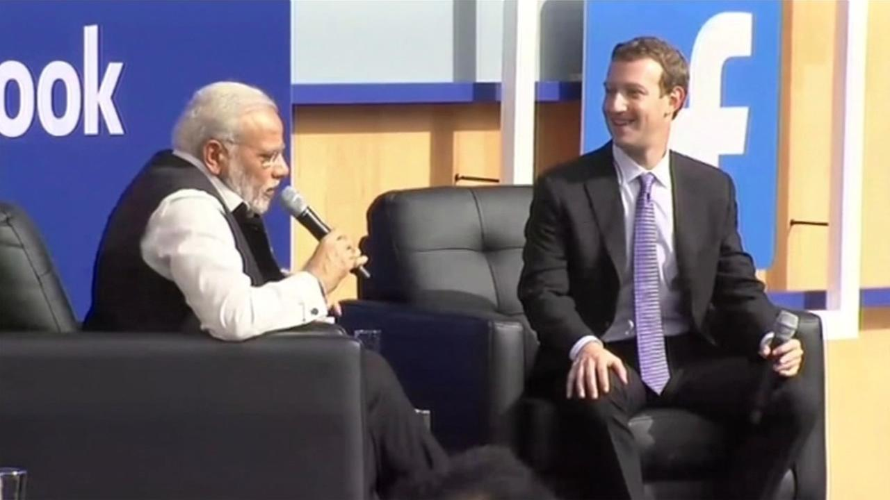Indias Prime Minister Narendra Modi met with Silicon Valley leaders like Facebooks Mark Zuckerberg on Sunday, September 27, 2015.