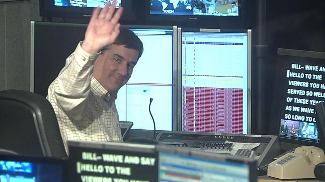 ABC7 News 6 p.m. producer Bill Green in the control room