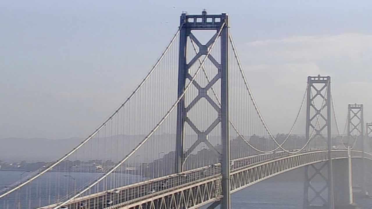 This photo shows the Bay Bridge on Sunday, October 4, 2015.