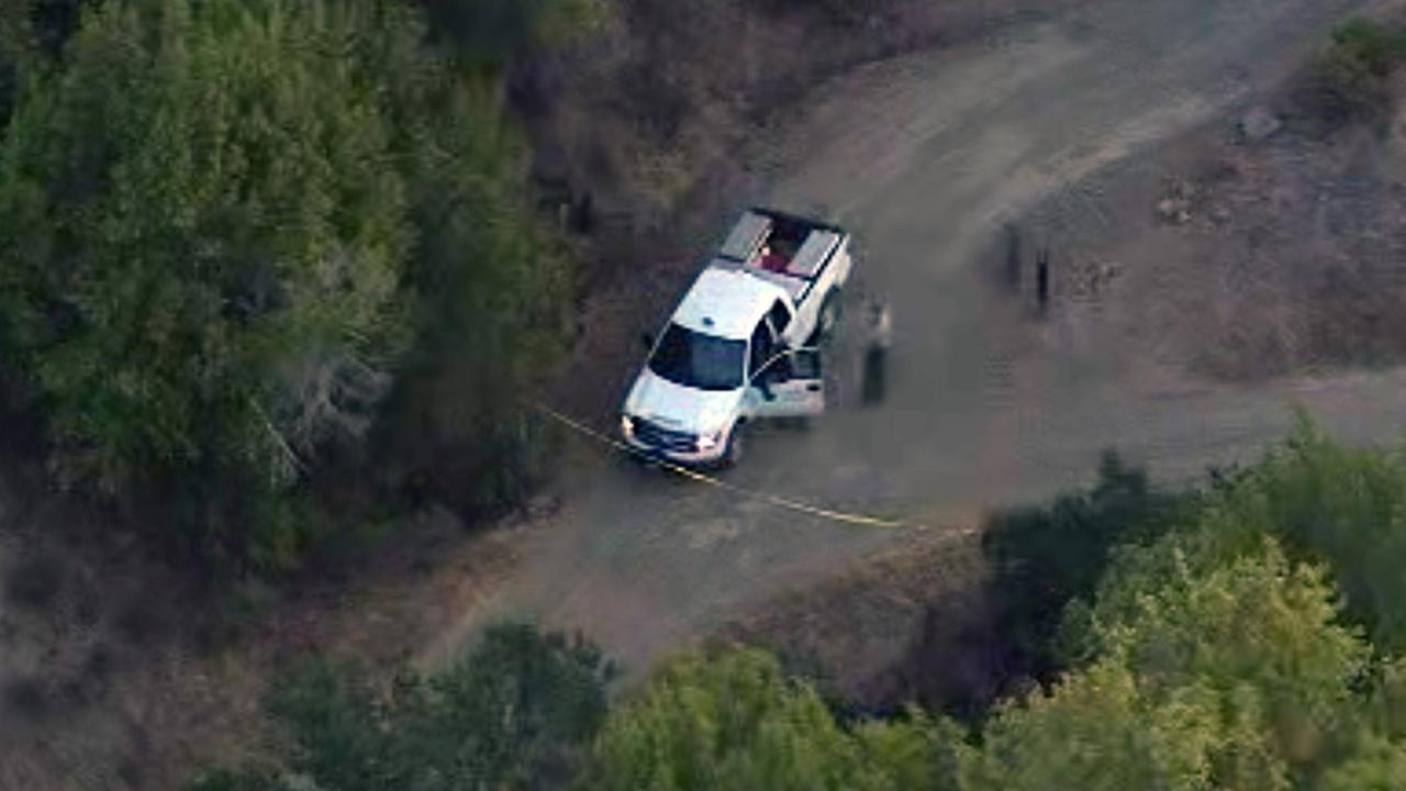 Murder investigation on trail near Fairfax, Tuesday, October 6, 2015.