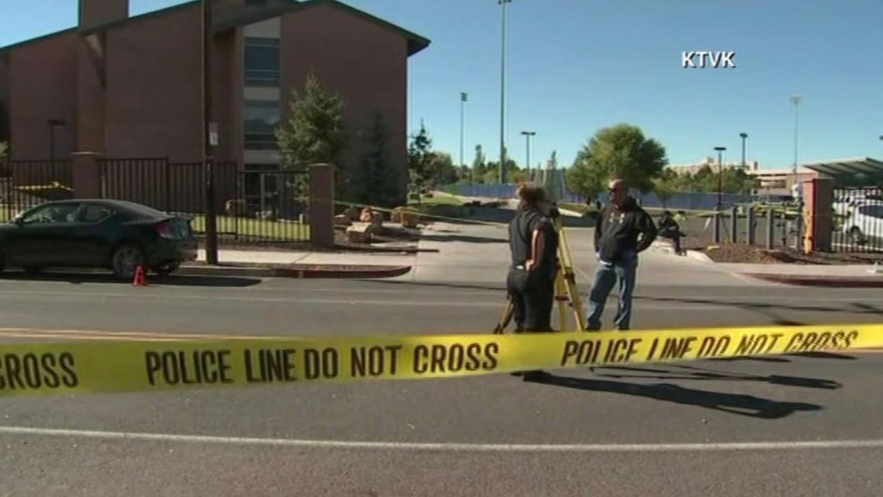 Four people were shot, one fatally, near a dorm at Northern Arizona University Friday morning, Oct. 9, 2015.