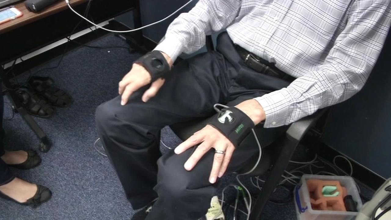 Jim Wiseman gets treatment from Stanford University researchers for his Parkinsons disease with a deep brain stimulator that helps control his tremors.