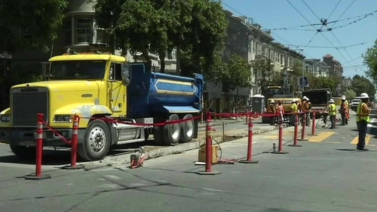 public works project on San Franciscos Haight Street