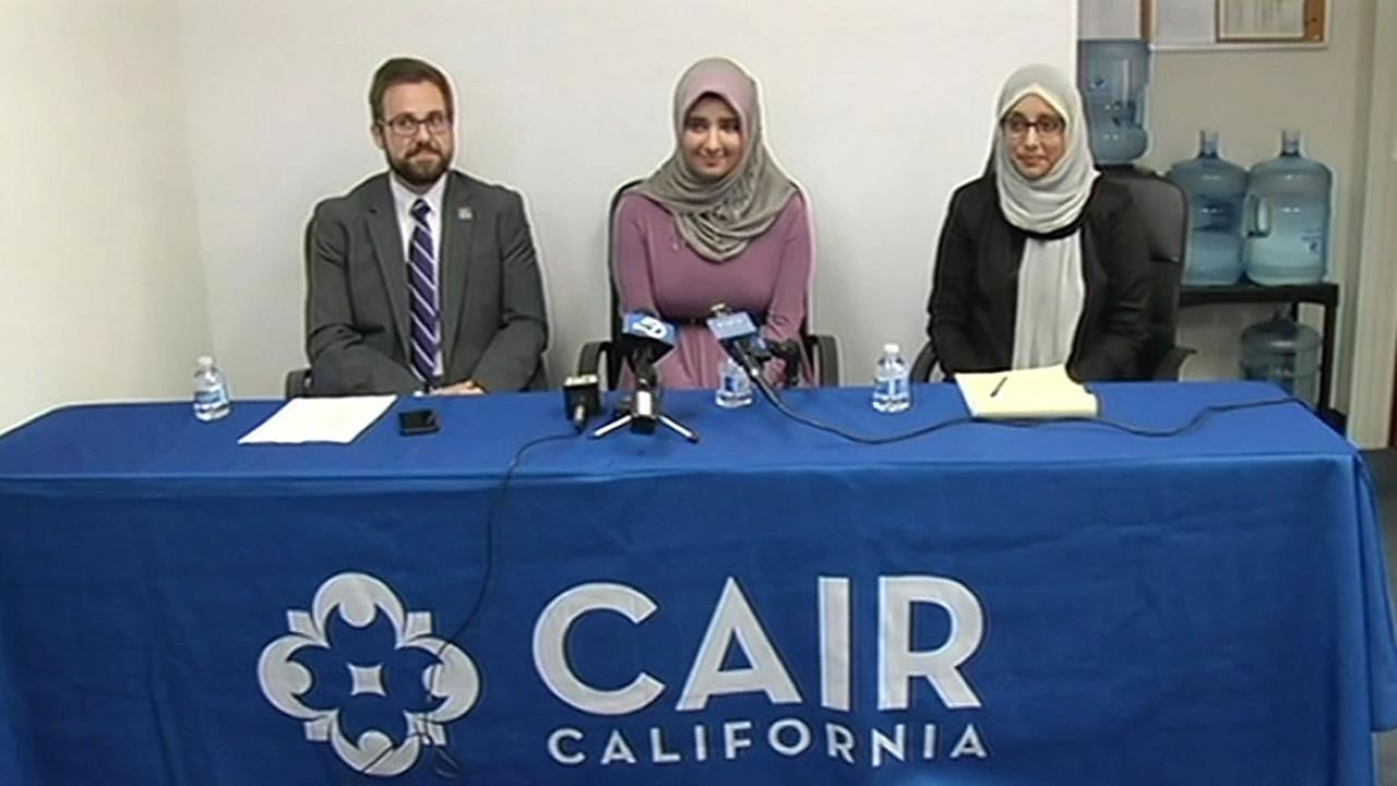 Council on American Islamic Relations representatives with a bullied student