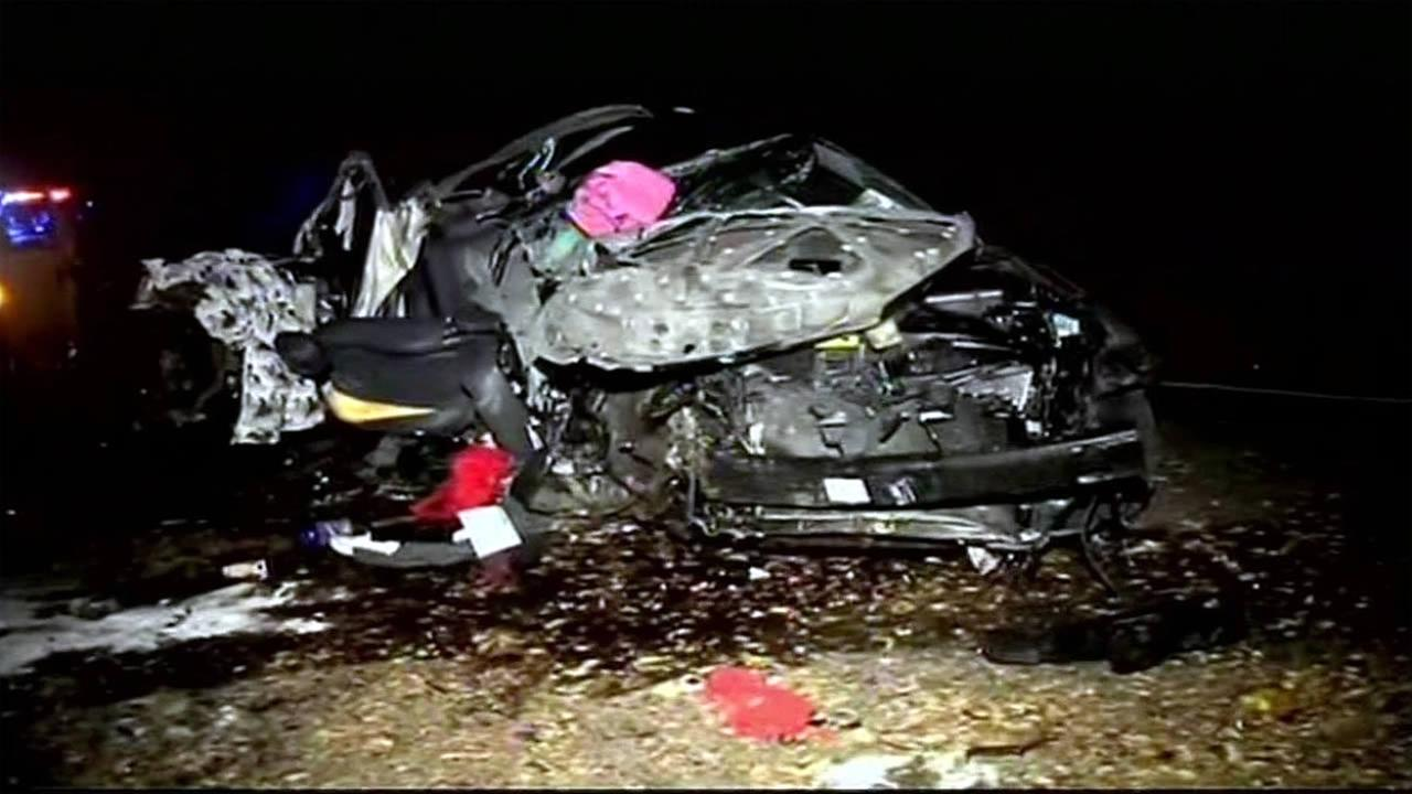 The CHP is investigating a crash that killed two teenage girls and injured another in Martinez on Sunday, November 1, 2015.