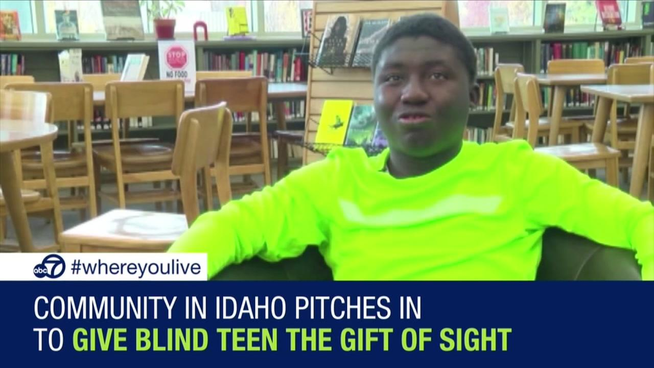 Community pitches in to give blind student gift of sight