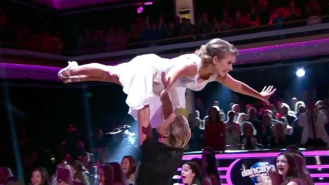 Bindi Irwin dances with dance partner Derek Hough