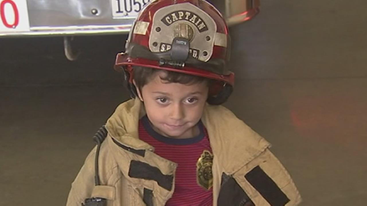 FILE - A 5-year-old boy who saved his family after a fire broke out at their San Bernardino County home is seen in this undated image.