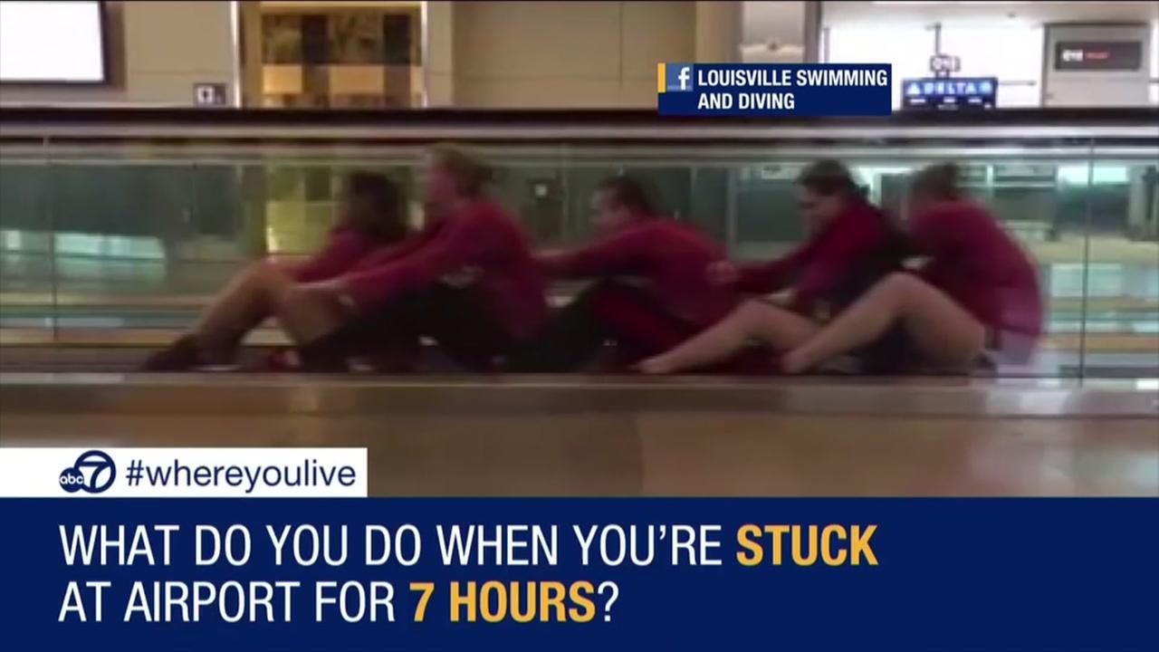 Know and Tell: Swim team stuck at airport gets creative