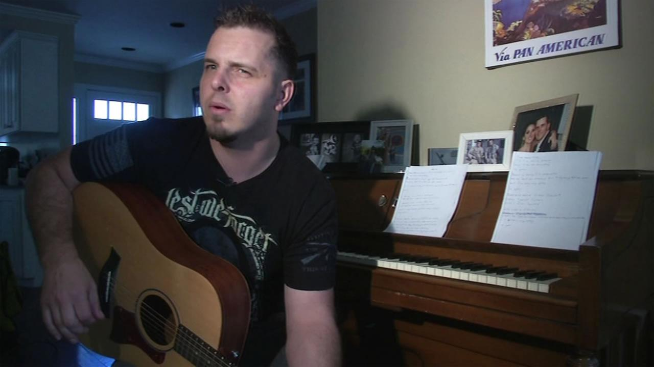 Former Marine John Preston of Danville, Calif,  is susing his music to help himslef and other veterans.