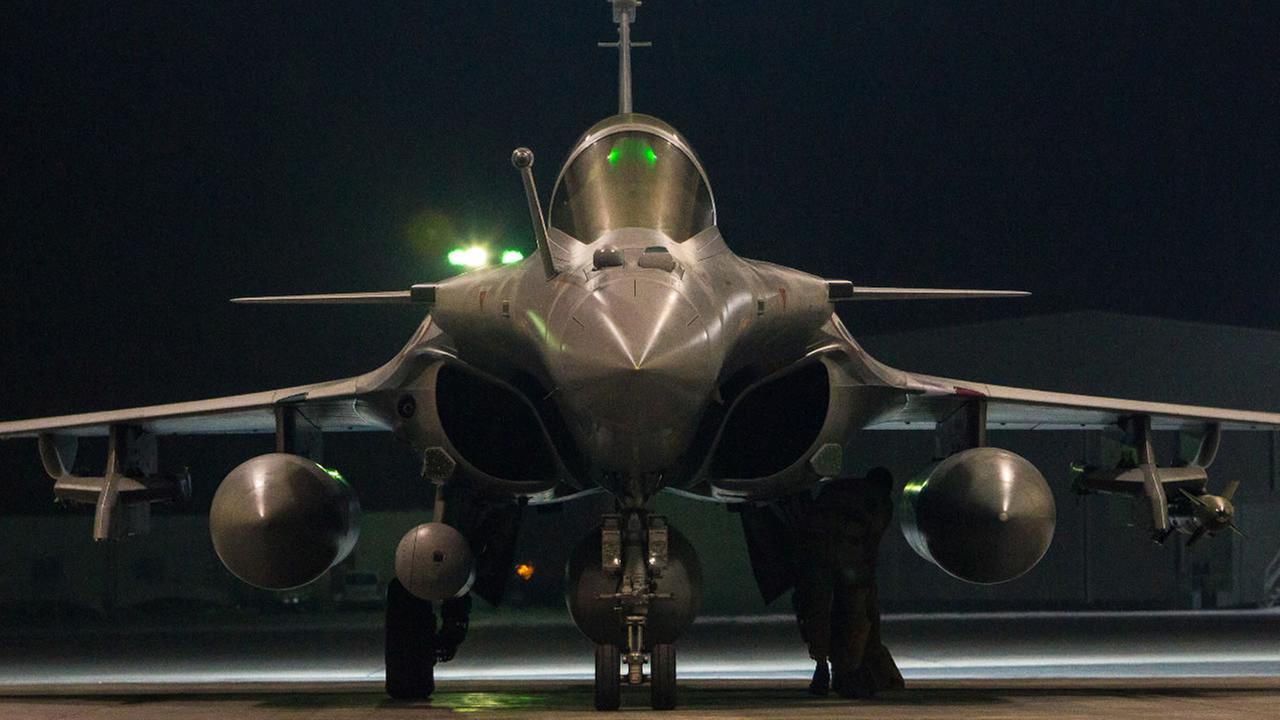 FILE- In this image, a French army Rafale fighter jet is seen on the tarmac of an undisclosed air base. (French Air Force/ECPAD via AP)
