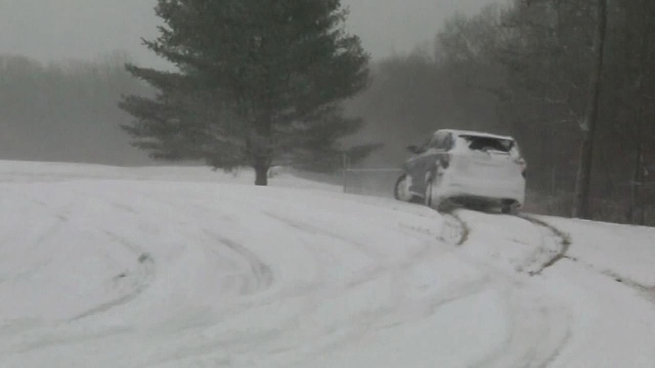 car tests out all-wheel drive