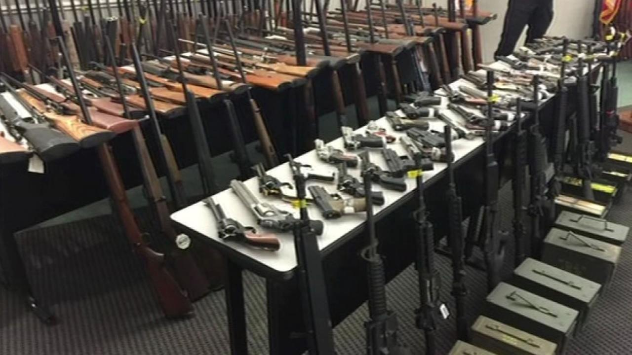 More than 500 firearms were seized from a Clovis home in the biggest weapons seizure ever made in a single home by the California Department of Justice Nov. 18, 2015.