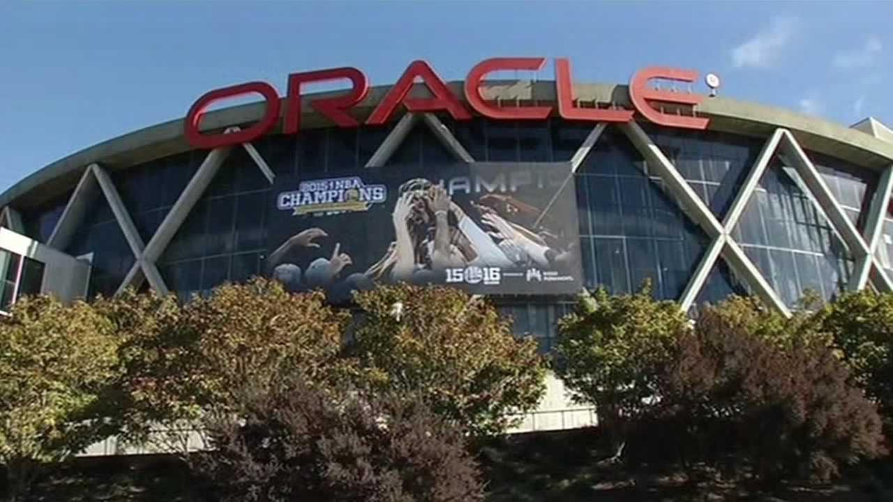 Oracle Arena in Oakland, Calif.