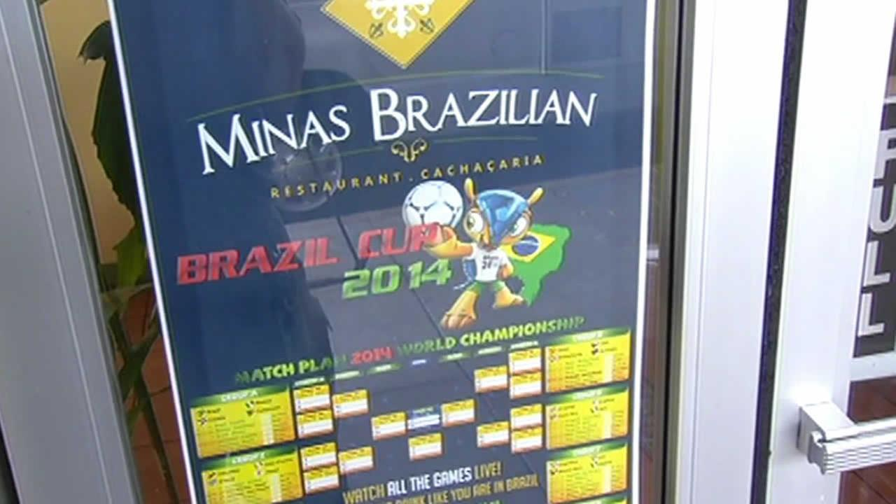 World Cup soccer schedule outside a bar in San Francisco