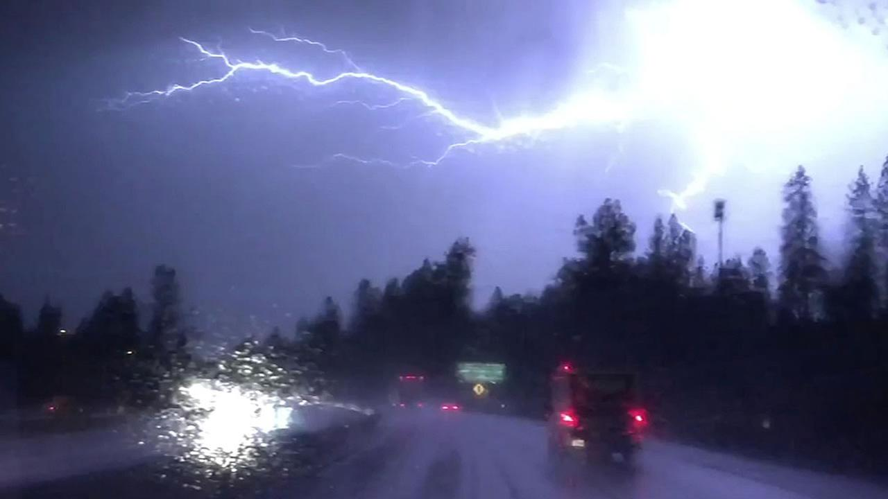 video of the lightning near Sierra