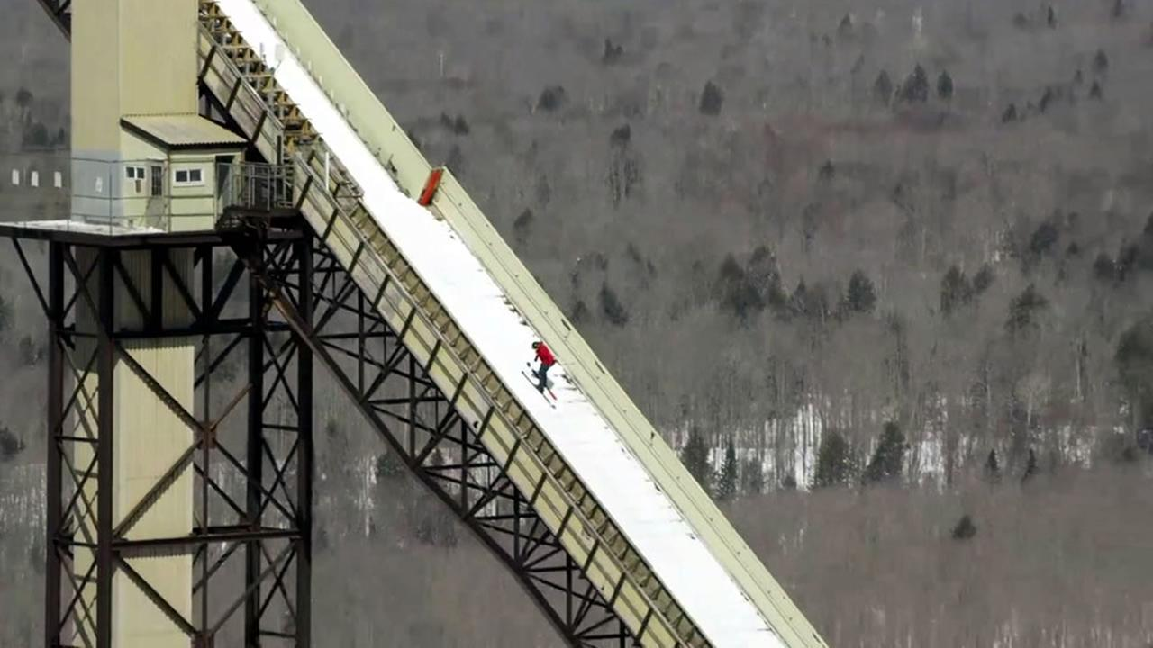Skier Sammy Carlson set a world record on the largest ski jump in the Western Hemisphere - and he did it backwards.