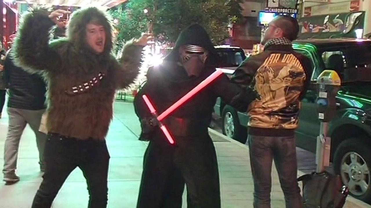 Star Wars fans dress up as characters from the movies