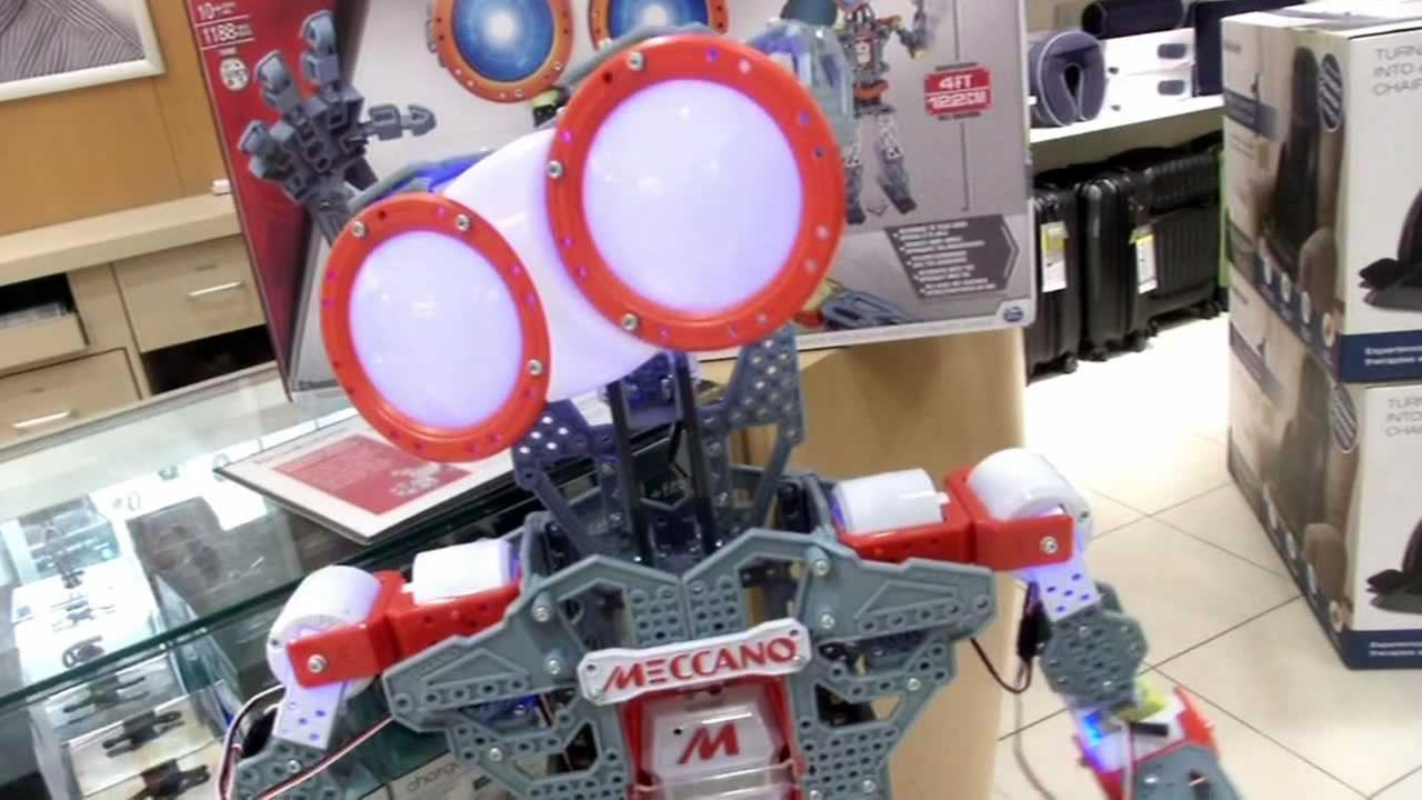 The Maccanoid is a programmable robot that children ages 8 to 18 build themselves.
