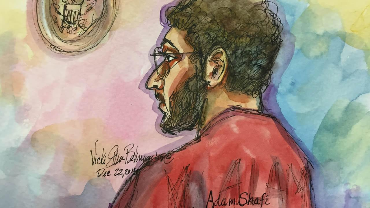 Adam Shafi is seen in court on December 22, 2015.