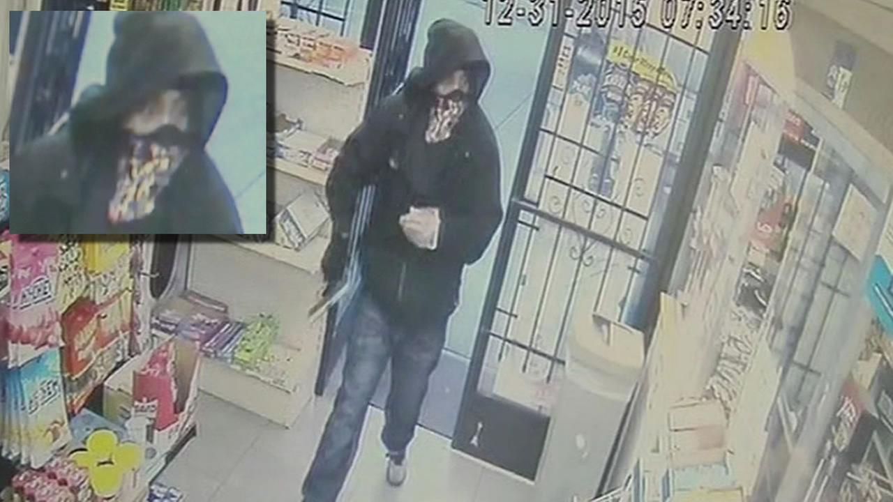 video of the serial robber in the East Bay