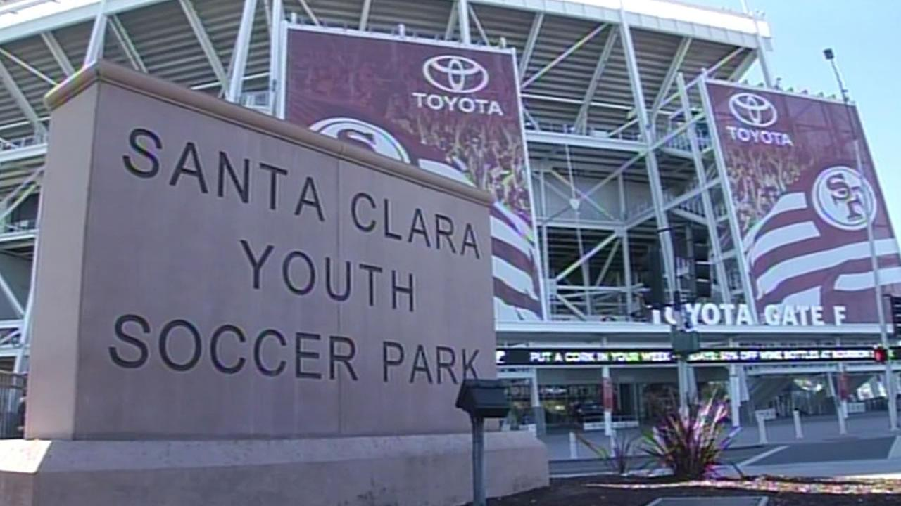 Santa Clara Youth Soccer Park sign