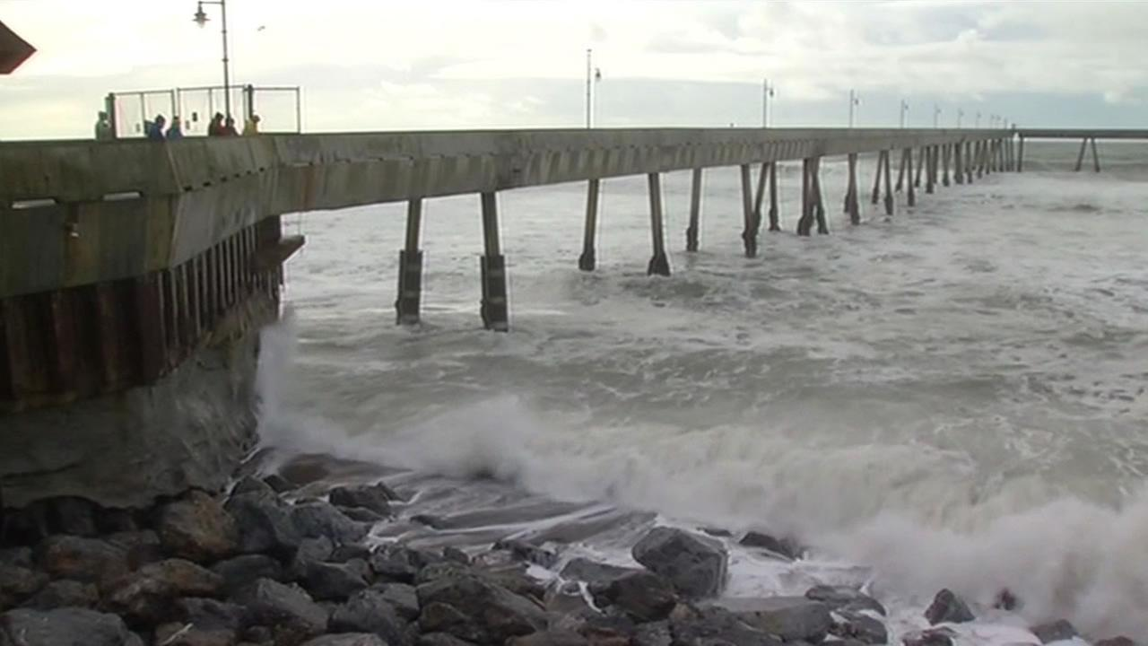 A pier in Pacifica, Calif. is seen on Wednesday, January 6, 2016.