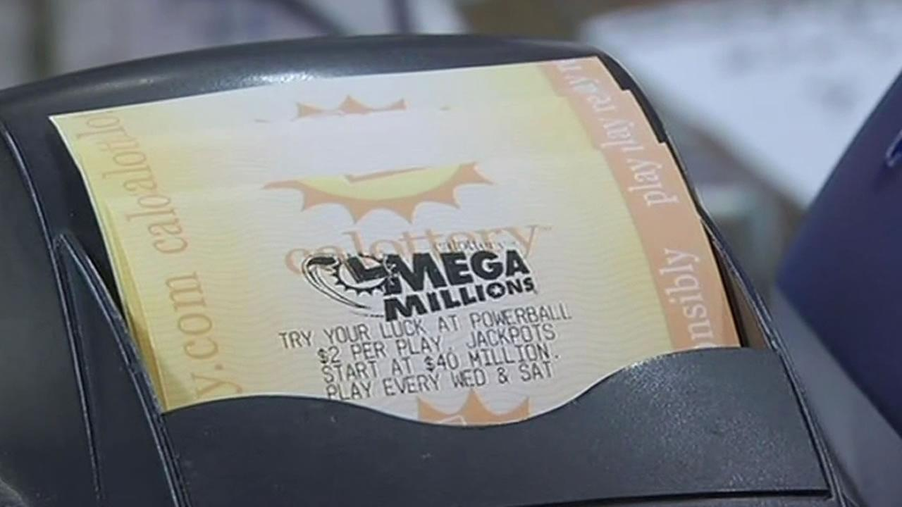 California lottery Mega Millions ticket