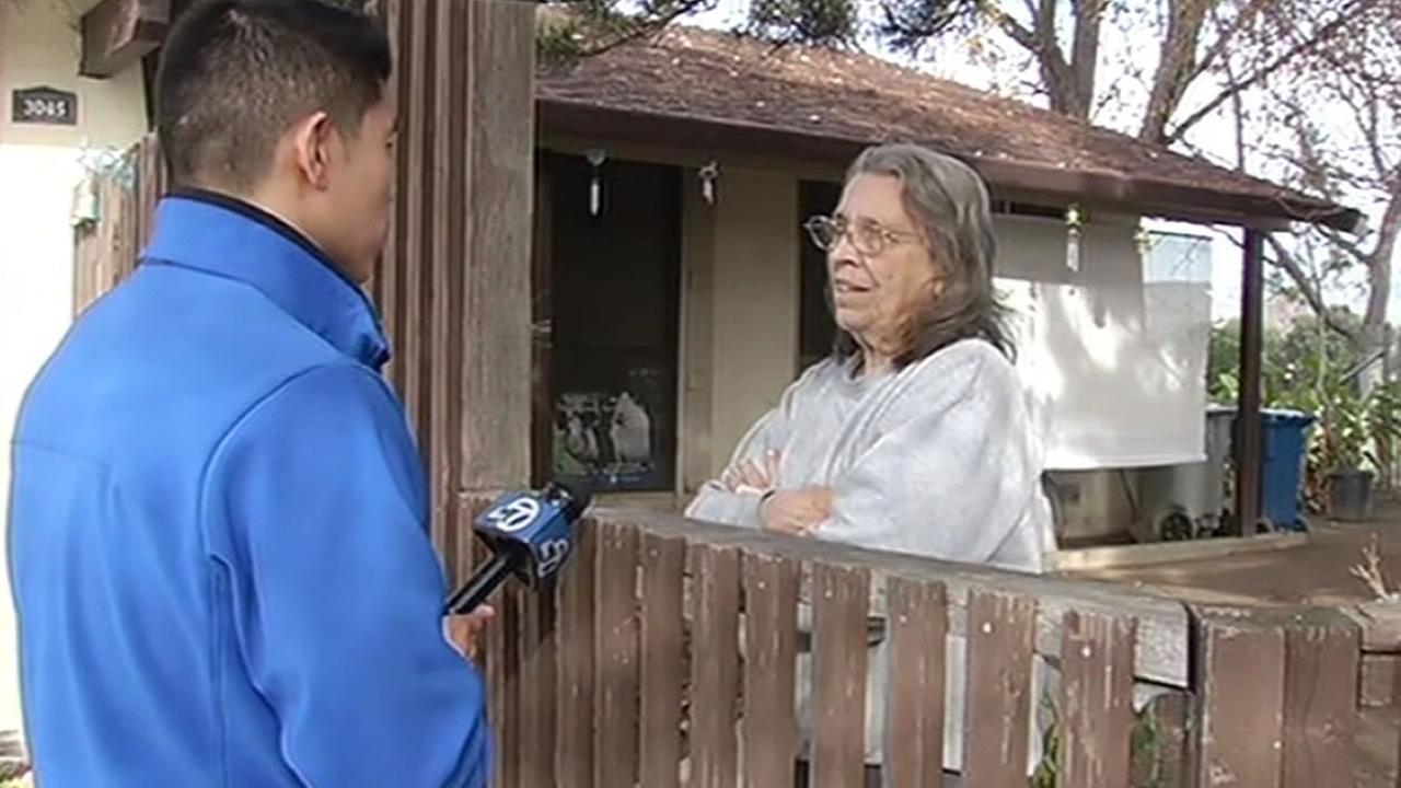 resident Charlene Forney talks to ABC7s Chris Nguyen