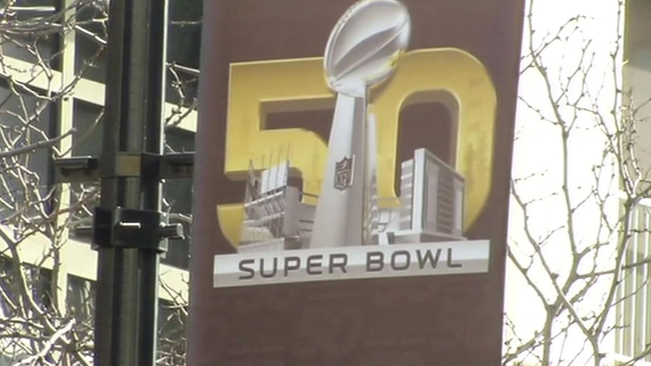 Super Bowl 50 sign in San Francisco