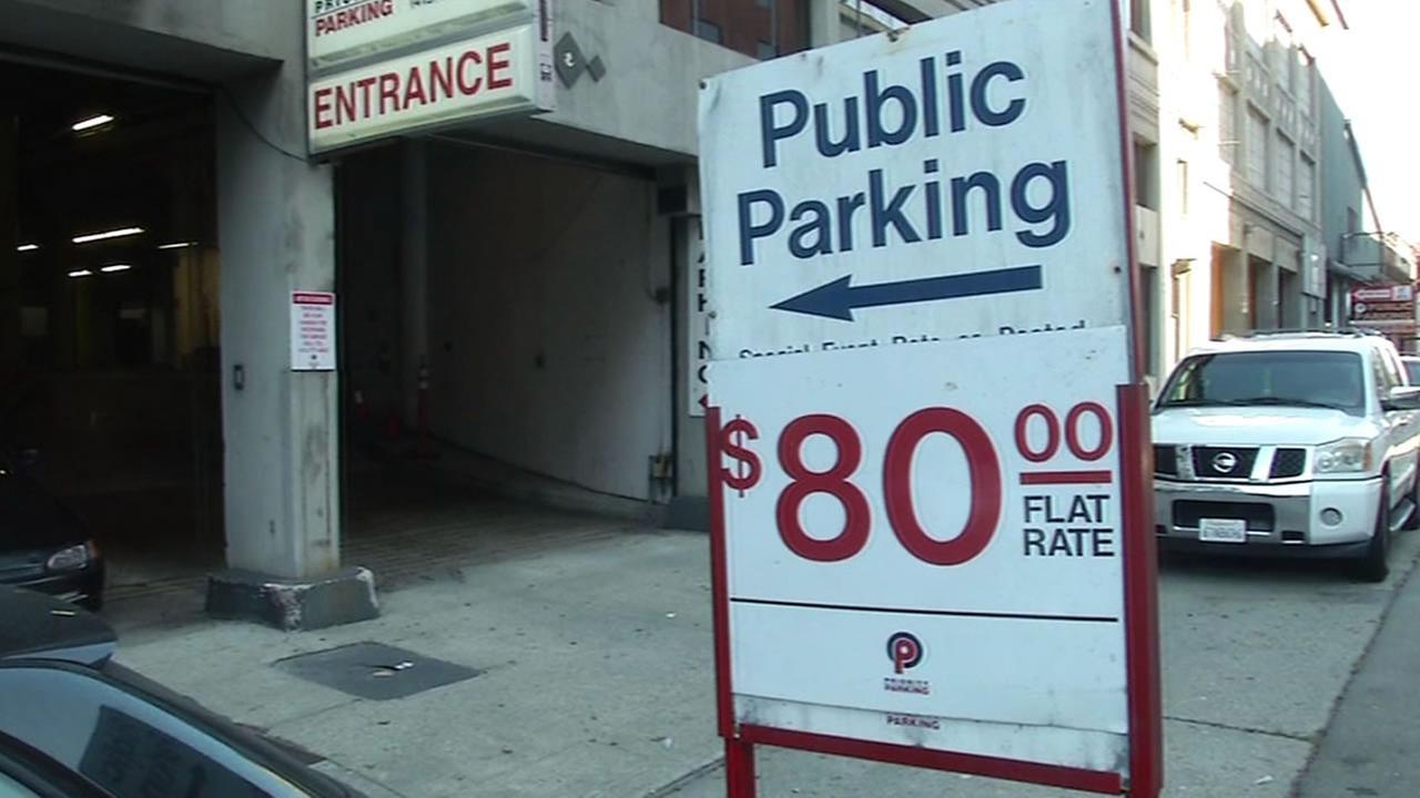 Parking $80 sign
