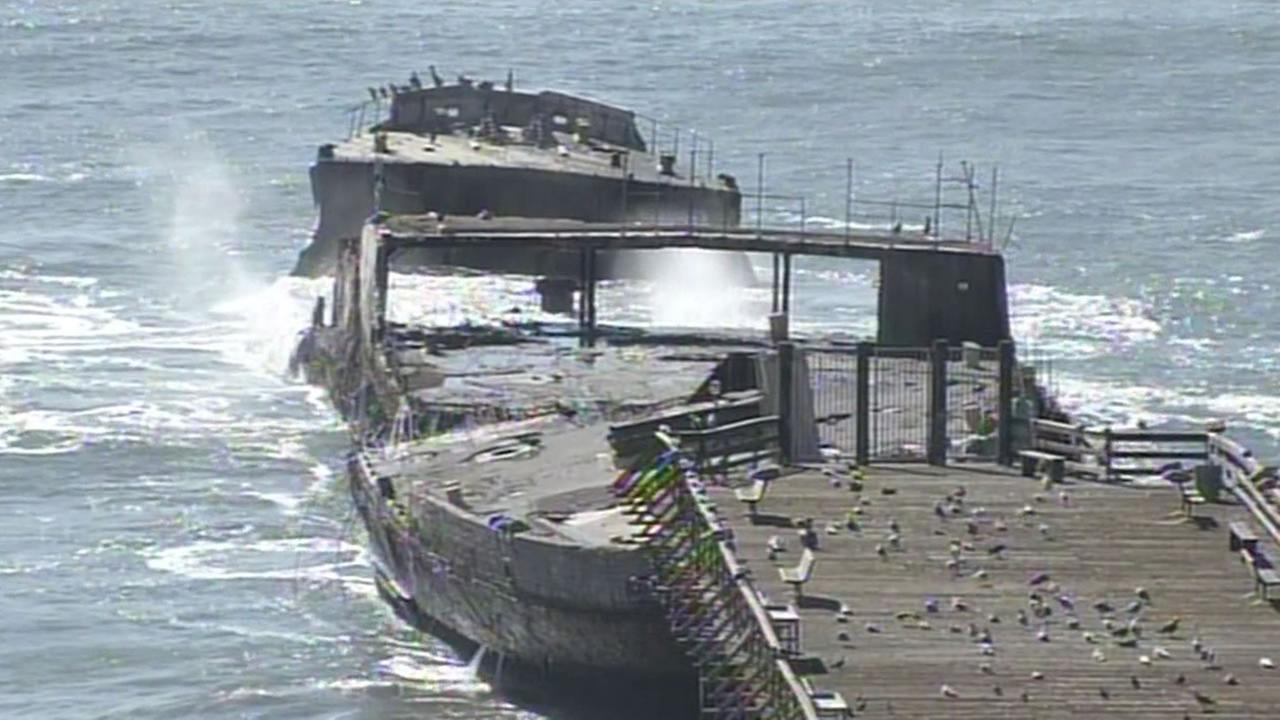 S.S. Palo Alto, a cement ship at Seacliff State Beach in Aptos