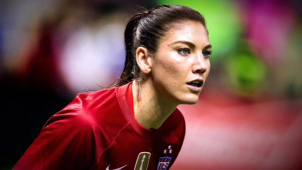 U.S. soccer star Hope Solo is seen in this undated image.