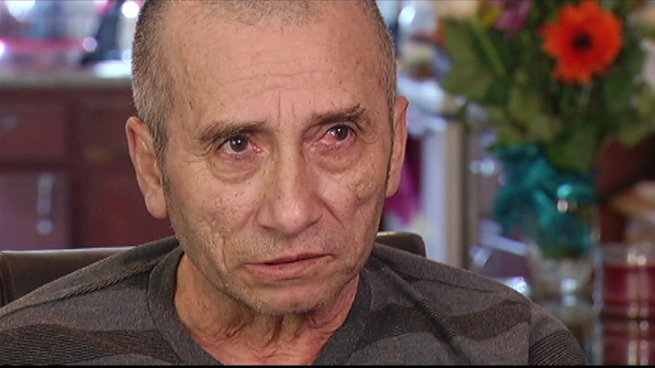 Pedro Perez, 58, survived a fall from a downtown San Francisco building onto a moving car on November 21, 2014.