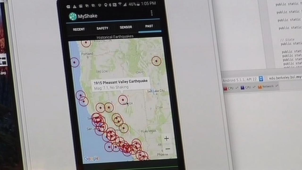 UC Berkeley app called MyShake to record earthquake data