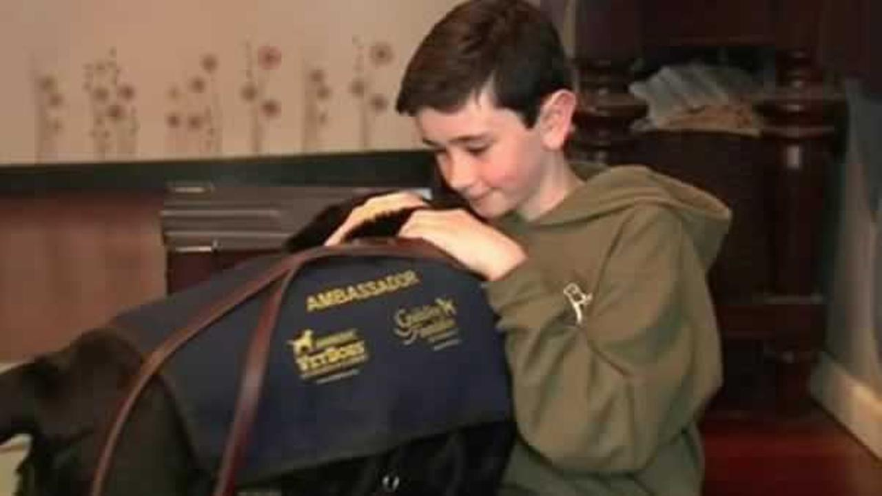 A partially-blind teenager from Long Island started a kind-hearted campaign to help wounded veterans and others who are suffering from a similar condition.