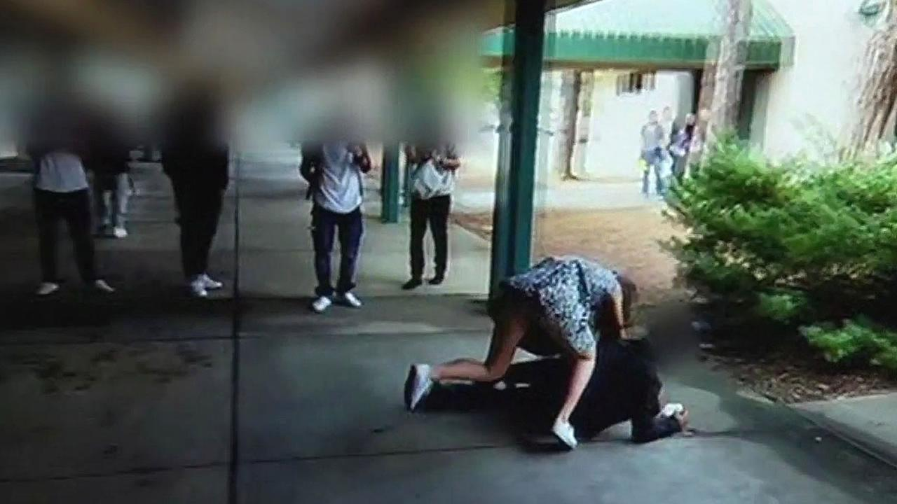 Video of a girl seen fighting a boy at Sonoma Valley High School